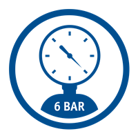 MAX PRESSURE (6 Bar)