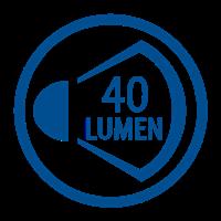 LIGHT OUTPUT LUMENS (40lm)