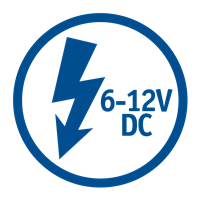 VOLTAGE / POWER NEEDED (6-12V DC)