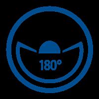 ANGLE VISIBLE (180°)