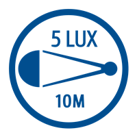LIGHT OUTPUT (5 LUX)