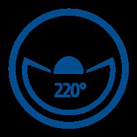 ANGLE VISIBLE (220°)