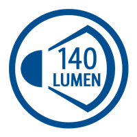 LIGHT OUTPUT LUMENS (140lm)