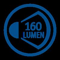 LIGHT OUTPUT LUMENS (160lm)