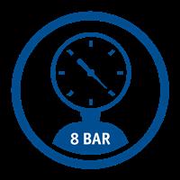 MAX PRESSURE (8 Bar)