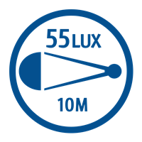 LIGHT OUTPUT (55 LUX)